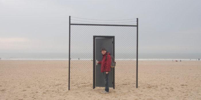 Deur Op Strand Van Oostende